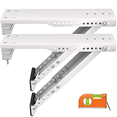 LuckIn 2-Pack Window Air Conditioner Support Bracket for 5,000 to 12,000 BTU AC Units, Support Up to 85 lbs, Heavy Duty Universal AC Holder