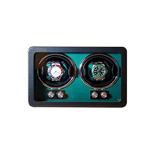 LRBBH Cajas Giratorias para Relojes Caja Presentación del Soporte Reloj Automático Mecánico Agitador Motor Caja Enrollador Fácil Acceso