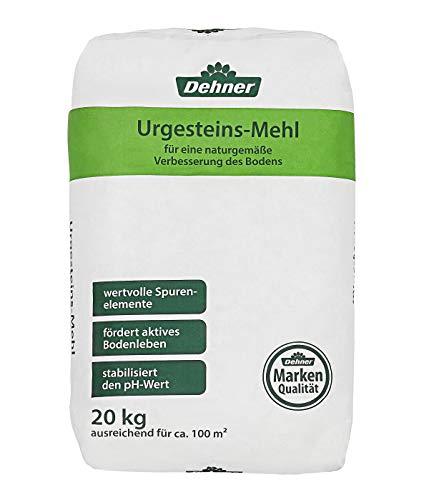 Dehner Urgesteinsmehl, fördert natürliche Bodenfruchtbarkeit, 20 kg