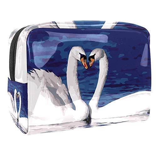 Grand sac de maquillage en PVC pour les cosmétiques de voyage et les crânes de porter des lunettes de soleil rouges avec motif de cœurs Multicolore Couleur 2 18.5x7.5x13cm/7.3x3x5.1in
