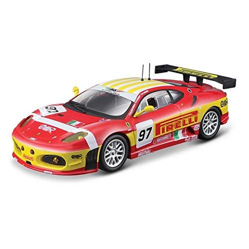 BECCYYLY Diecast Model Car 1:43 para la edición de Tapa Dura 2008 para Ferrari F430 GT2 Modelo de Carreras Simulación Modelo de automóvil Modelo de aleación Coche de Juguete COLECCIÓN Mayor wmpa