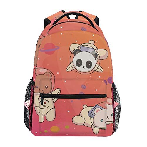 Simpatico Panda Di Orso Spaziale Zainetti Zaino per bambini Ragazze Ragazzi borsa zaini da viaggio grande per laptop