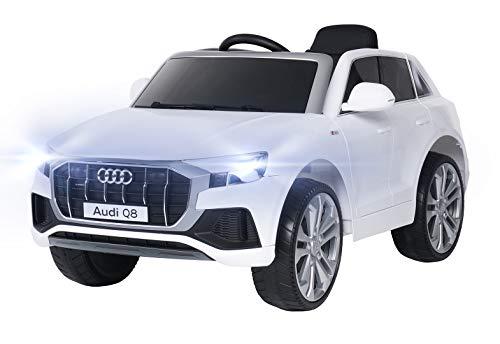 Actionbikes Motors Kinder Elektroauto Audi Q8 4M - Lizenziert - 2 x 45 Watt Motor - 2,4 Ghz Fernbedienung - Elektro Auto für Kinder ab 3 Jahre (Neu Audi SQ8 Weiß)