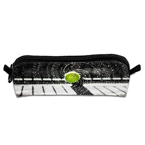 Pen Bag,Spinning Tennisball Premium Canvas Bleistiftbeutel, Weiche Bleistiftbeutelhalter Für Party-Geschäftsreisen,20.5x7.7x7.7cm