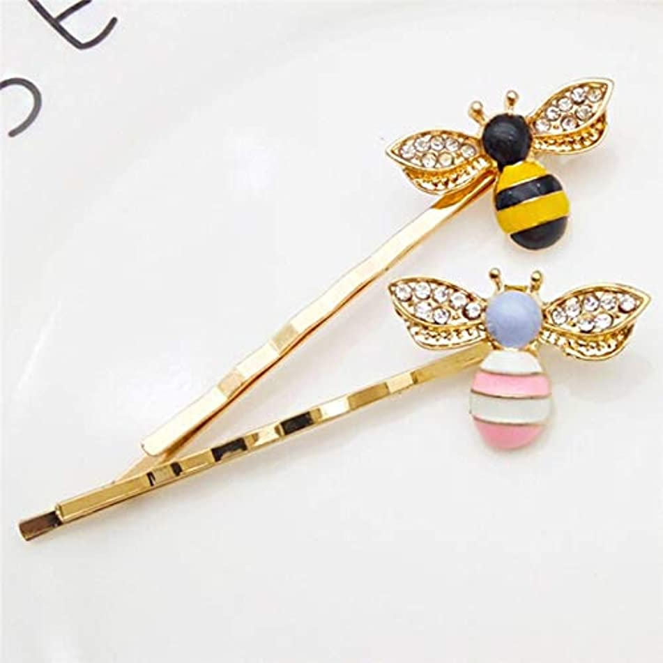 Moonnight Store Lovely Crystal Wings Black Yellow & Pink White Body Bees Golden Hair Jewelry Bobby Pins Hairpins Clips For Women
