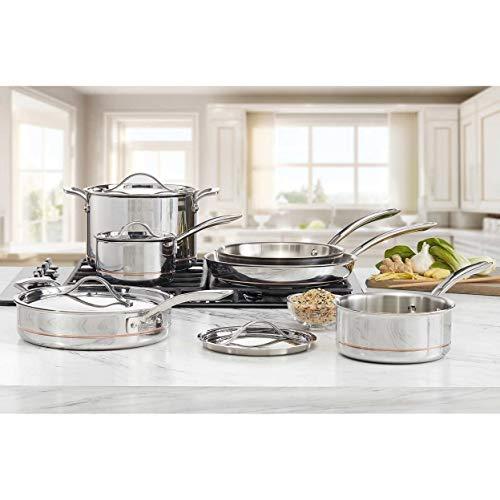 Kirkland Signature COS1119338 Cooking & Dining›Cookware›Pots & Pans Pot & Pan Sets, Stainless Steel