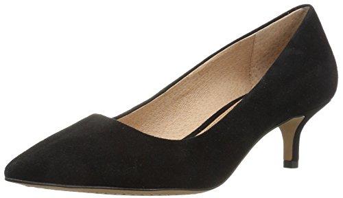 Amazon Brand - 206 Collective Women's Queen Anne Kitten Heel Dress Pump, Black, 8.5 B US