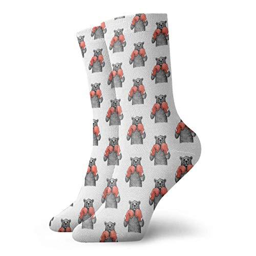 Bär Boxer-Socken, klassisch, Freizeit, Sport, kurze Socken, 30 cm, geeignet für Männer und Frauen