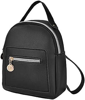 Misyaa Casual Convertible Shoulder Zipper Pockets Leather Backpack