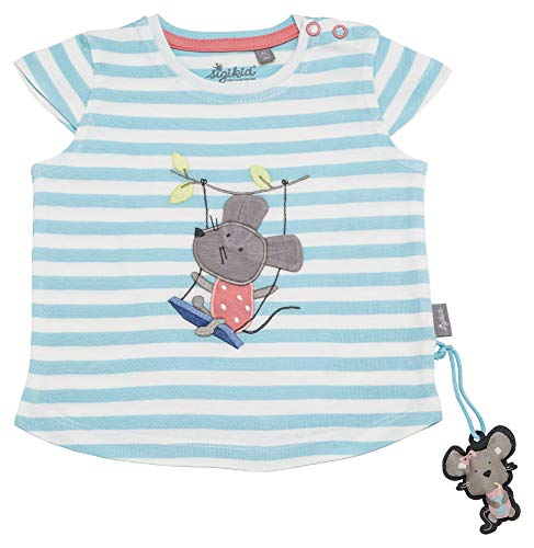 Sigikid Baby-Mädchen T-Shirt, Türkis (Aquatic 565), (Herstellergröße: 74)