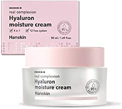 Hanskin Real Complexion Hyaluronic Moisture Cream - Hyaluronic Acid, Moisturizing, Glowing, Soft & Fragrance-Free. Hanskin Official [50g]