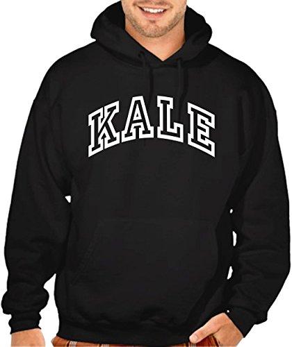 Kale Vegetarian Men's Hoodie Black (L)