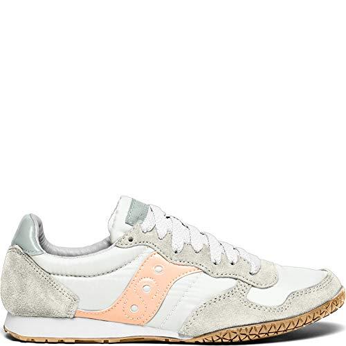 Saucony Women's Bullet Sneaker, white/pink/gum, 9.5 M US
