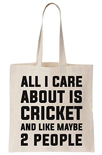 graphke All I Care About Is Cricket And Like Maybe 2 People Canvas Tote Bag Tragetasche