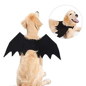 Lembeauty pour Animal Domestique Costume de Chauve-Souris Aile Cosplay Halloween Props Pet Apparel Déguisement Ailes