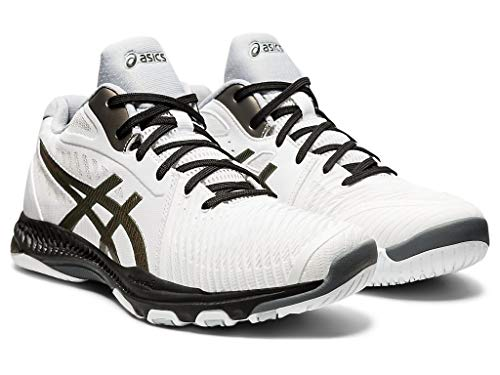 ASICS Men's Netburner Ballistic FF MT 2 Volleyball Shoes, 11M, White/Gunmetal