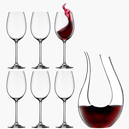 Yuansr Copa de Vino Tinto de Cristal, decantador de vinos, Vidrio de champán/Copa de Vino diseñada para Vino Tinto, Utilizado para Fiestas, Bodas, (Size : Style 3)