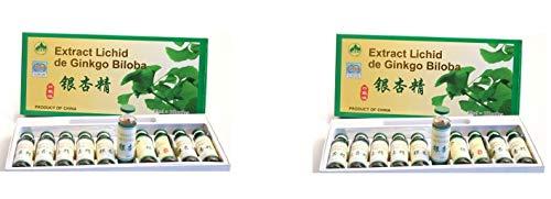 Natürlicher Ginkgo Biloba, 20 x 10 ml Trink-Ampullen
