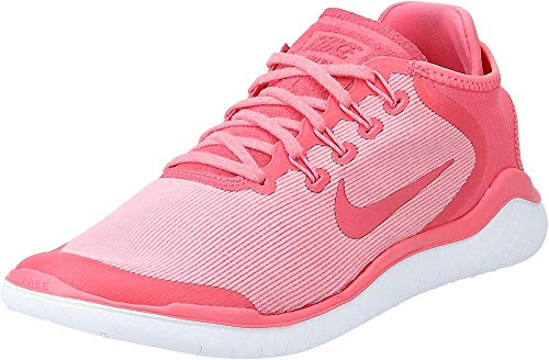 Nike Damen Free Rn 2018 Sun Traillaufschuhe, Pink (Sea Coral/Tropical Rosa/Vast Grigio 800), 38 EU