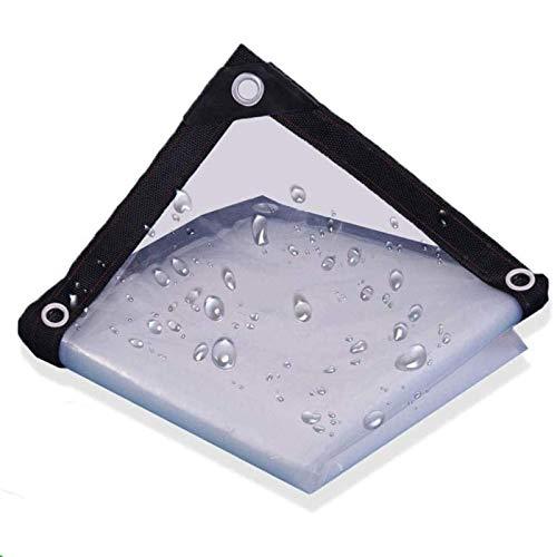 FOGUO Lona Impermeable De Protección Exterior6x9m, Lona Transparente Ojales, Toldos Lona Transparente, Protección contra El Polvo Y Los Rayos UV, para Construcción Muebles