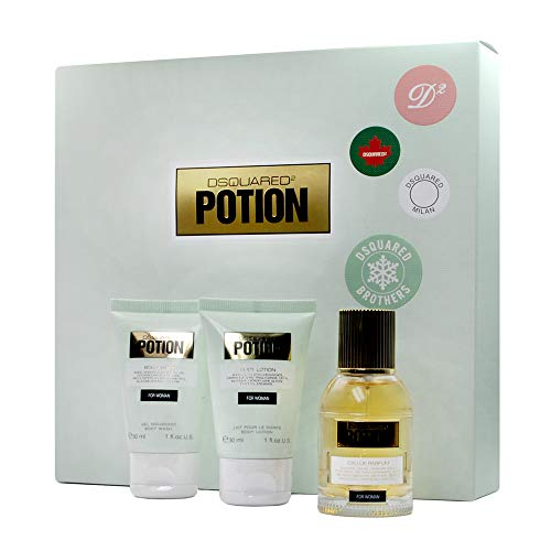 DSQUARED2 POTION VROUW 30ML EDP + DOUCHEGEL 30ML + BODY LOTION 30ML