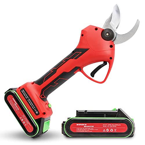 WONDER MASTER Professional Cordless Pruner Electric Pruning Shears Electric Pruner 2Pcs Backup...