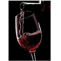 XIANRENGE ポスター 赤ワインのリビングルームの誘惑のためのキャンバスの絵画ポスターカスタムプリント北欧のフームの装飾壁アート絵画-50x70cmx1フレームなし
