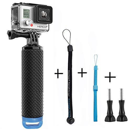 Galleggiante per GoPro, Homeet Bastone Impugnatura Galleggianti Mano Impermeabile Floating Grip Selfie Palo per GoPro Hero 5/4/3+/3/2/SESSION, per Action Camera Canon/Nikon/Panasonic/Olympus/SJCAM/SONY HDR FDR/Garmin Virb XE/Xiaomi Yi 4K/DBPOWER QUMOX/Akaso/Apeman【Blu】