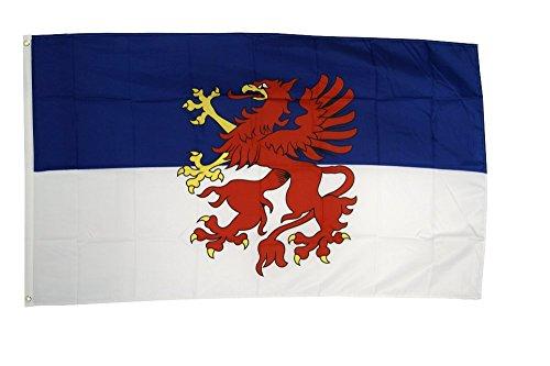 Flaggenfritze Fahne/Flagge Pommern + gratis Sticker