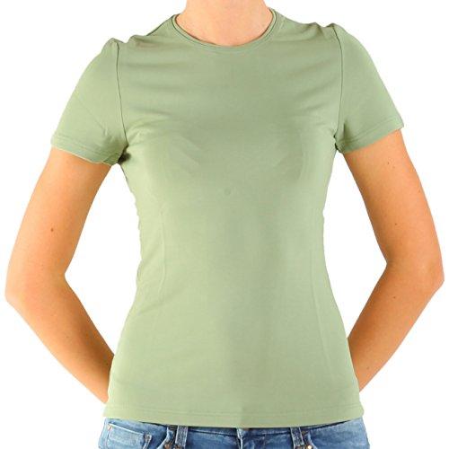 Calvin Klein Mark damesshirt, T-shirt, blouse, blouse tops, nude, groen, Rayon, zijde