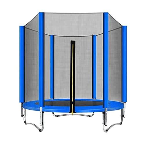 DONGTAISHANGCHENG Trampolines Interior Trampoline for Niños Interior Bounking Bouncing Bed Fitness Jumping Cama con Red de protección 140 cm (Color : Blue)