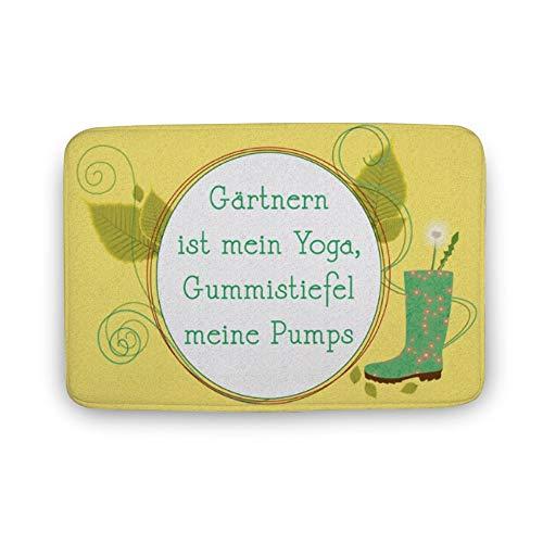 Gaertnern Ist Mein Yoga Fußmatte Rutschfeste Badematte für Alle Gartenfeen Außen/Innen Türmatte Waschbar Fußabtreter Teppich für Flur Eingang Vorzimmer Badezimmer Küche Haustier Schlafzimmer