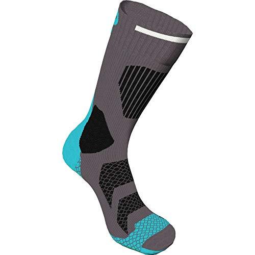 K2 Herren Tech In Line Skating Socken, Black/Turquoise, 35-38