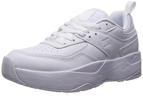 DC Women's E.TRIBEKA Platform Skate Shoe, White, 9.5 M US
