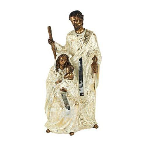CAPRILO. Figura Decorativa Religiosa de Resina Nacimiento Grande. Adornos y Esculturas. Belenes. Decoración Hogar. Regalos Originales. Navidad y Reyes. 48 x 23 x 18 cm.