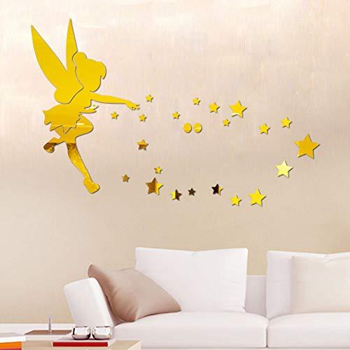 VIOYO Muursticker Spiegel Stickers Stilleven Home Decor Vlinder Paard Wandklok Photo Muur