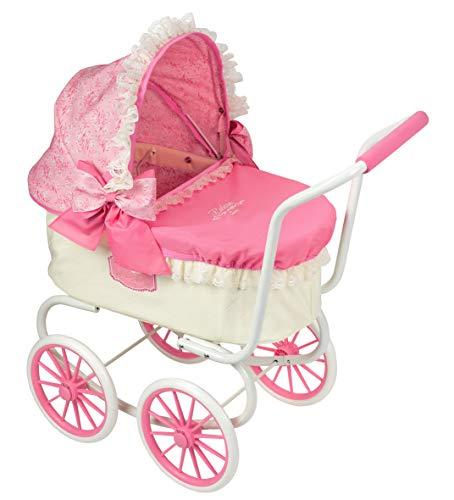 Saica Klassischer Puppenwagen Reborn-Wagen Rosa