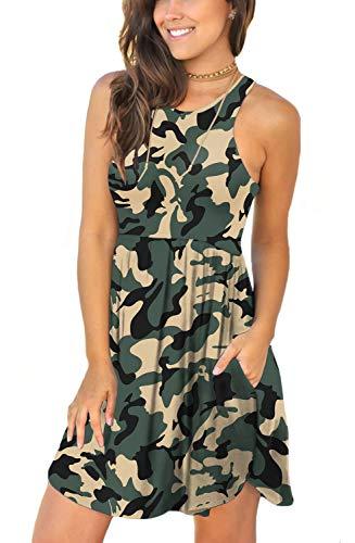 LONGYUAN Women Swimsuit Bathing Suit Cover Ups for Sundress Medium,Camouflage