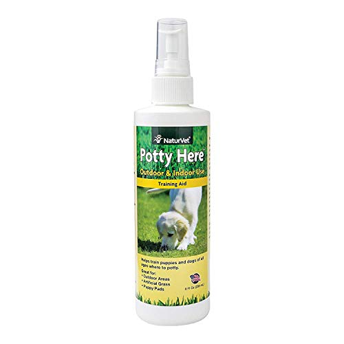 BombDealsStore NaturVet Potty Here Training Aid Spray for Puppies and Dogs Pee Pads with Quiet Spot, Liquid, Made in USA