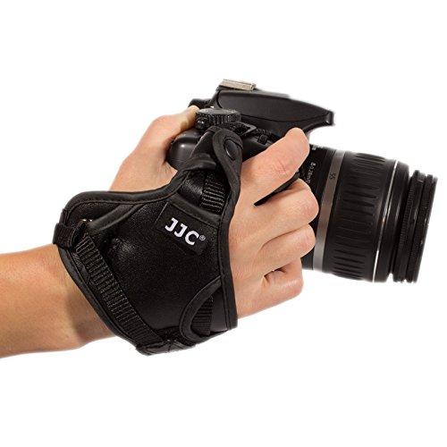 Ares foto camera-polsriem veiligheidslus polsband van leer voor DSLR-fotoapparaten en systeemcamera's. Wordt bevestigd aan riemoog en statiefschroefdraad. (HS-N)