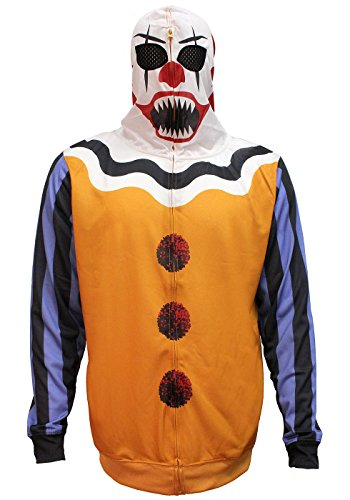 Bioworld Herren Kapuzenpullover Clown Halloween Kostüm -  mehrfarbig -  Large
