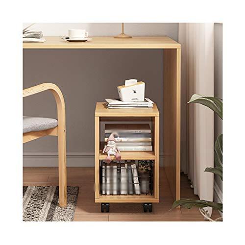 Estante Simple Mobile plataforma de múltiples capas Los estantes de Estudiantes compartida de estar sala de oficina Organizar y organizar creativo Librero Repisa ( Color : 2 layers of rubber wood )