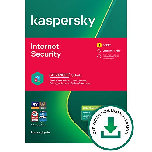 Kaspersky Internet Security 2021 Standard | 1 Gerät | 1 Jahr | Windows/Mac/Android | Aktivierungscode per Email