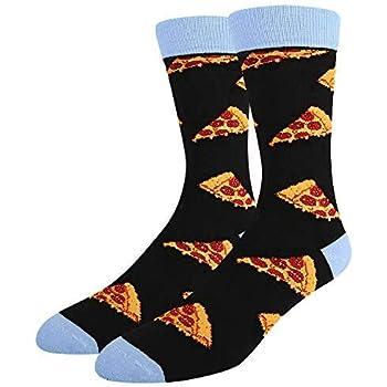 SOCKFUN Funny Novelty Dill Pickle Beer Pizza Sushi Taco Donut Dessert Gift Socks For Men
