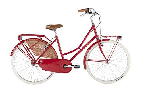 Alpina Bike Olanda, Bicicletta Donna, Rosso, Telaio 46 cm