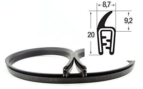 DF1 Dichtungsprofil von SMI-Kantenschutzprofi - Klemmprofil (PVC) mit obenliegender Dichtung als Fahne (EPDM) - einfache Montage, selbstklemmend ohne Kleber - Klemmbereich 1-2 mm (20 m)