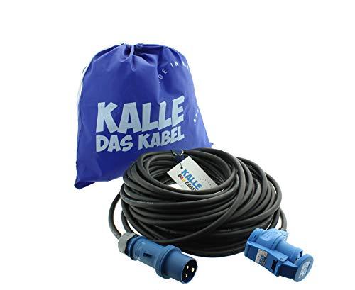 CEE-Verlängerungskabel mit Winkelkupplung H07RN-F 3G 1,5 mm² 20 m von KALLE DAS KABEL