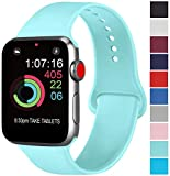 AK Compatible avec Apple Watch Bracelet 42mm 38mm 44mm 40mm, Bracelet de Sport en Silicone Remplacement Compatible la...