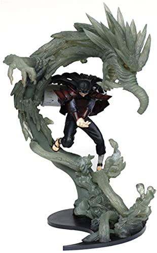 BIOAOUA decoración de Escritorio Figura de Personaje de Anime muñeca de Vinilo Ninja Llama mil Pilar de Mano Estatua de dragón Modelo en Caja 28CM