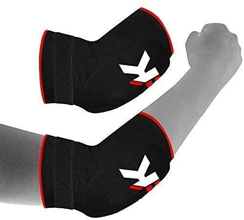 KIKFIT Coderas negras de soporte de manga para tenis, baloncesto, voleibol, baile, yoga, levantamiento de pesas antideslizante